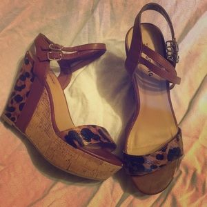 CALL IT SPRING Leopard Wedges